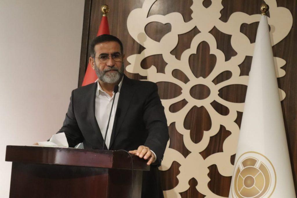 الشيخ عدنان الشحماني خلال القاء كلمته في مؤتمر الامام الحسن