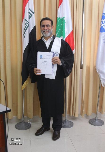 الشيخ الشحماني يحصل على شهادة الدكتوراه